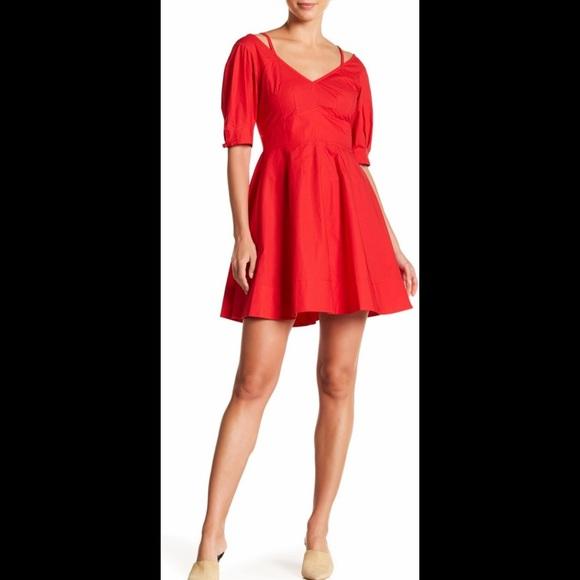 10 Crosby Derek Lam Dresses & Skirts - Derek Lam 10 Crosby Cold Shoulder V-Neck Dress